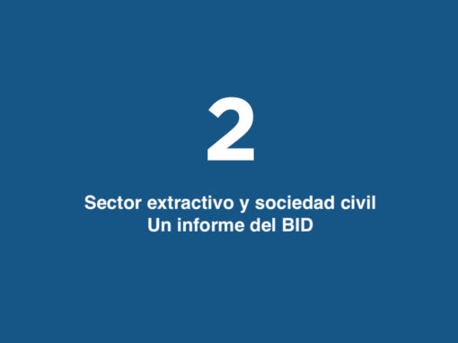 Sector extractivo y sociedad civil